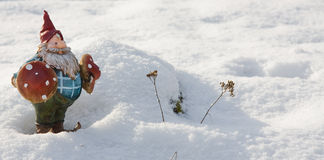 χιόνι santa Στοκ Φωτογραφίες