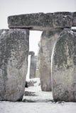 χιόνι stonehenge Στοκ Φωτογραφίες
