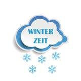 Χιόνι Winterzeit σύννεφων Στοκ εικόνες με δικαίωμα ελεύθερης χρήσης