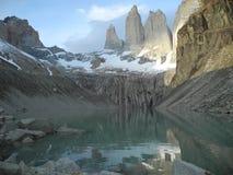Χιλή del paine torres στοκ εικόνα