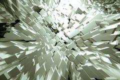 Άσπροι κύβοι Jutting Στοκ εικόνα με δικαίωμα ελεύθερης χρήσης