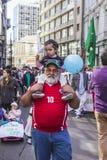 Χιλιανοί διαμαρτύρονται το ιδιωτικό συνταξιοδοτικό σύστημα Στοκ Φωτογραφίες