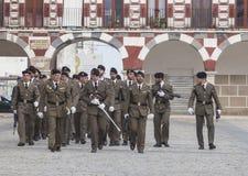 ΧΙ ταξιαρχία Εστρεμαδούρα σε Plaza Alta Στοκ Εικόνες