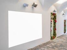 Χλεύη επάνω Κενός πίνακας διαφημίσεων υπαίθρια, υπαίθρια διαφήμιση, πίνακας πληροφοριών στον τοίχο στοκ εικόνες