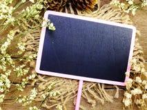 Χλεύη επάνω με το κενό διάστημα λουλουδιών gypsophila για το κείμενο Στοκ φωτογραφία με δικαίωμα ελεύθερης χρήσης
