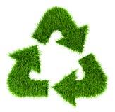 χλοώδες ανακύκλωσης σημάδι Στοκ Φωτογραφία