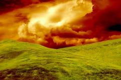 χλοώδης λόφος Στοκ Φωτογραφίες