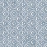 Χλωμός - το μπλε και άσπρο αστέρι και το ημισεληνοειδές σχέδιο κεραμιδιών συμβόλων επαναλαμβάνουν Στοκ Εικόνες