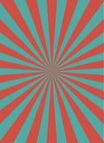 Αναδρομικό στενό κάθετο υπόβαθρο φωτός του ήλιου Χλωμό κόκκινο, μπλε υπόβαθρο έκρηξης χρώματος απεικόνιση αποθεμάτων