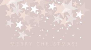 Χλωμό σχέδιο αστεριών Χριστουγέννων χρώματος Στοκ Εικόνες