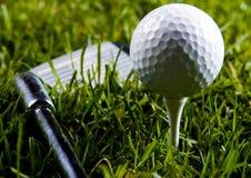 χλόη γκολφ οδηγών σφαιρών Στοκ εικόνα με δικαίωμα ελεύθερης χρήσης