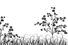 Χλόη και λουλούδι, διάνυσμα διανυσματική απεικόνιση