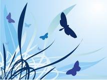 χλόη ν πεταλούδων Διανυσματική απεικόνιση