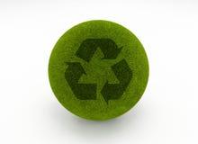 χλόη σφαιρών ανακύκλωσης Στοκ Φωτογραφία