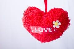 χνουδωτό κόκκινο καρδιών Στοκ εικόνα με δικαίωμα ελεύθερης χρήσης