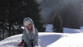 Χνουδωτό χιόνι απόθεμα βίντεο