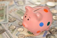 χοίρος τραπεζών piggy Στοκ εικόνα με δικαίωμα ελεύθερης χρήσης