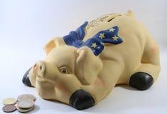 χοίρος χρημάτων κιβωτίων Στοκ φωτογραφία με δικαίωμα ελεύθερης χρήσης