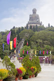 Χογκ Κογκ Άγαλμα του Βούδα στο νησί Lantau Στοκ Εικόνα