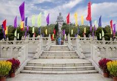 Χογκ Κογκ Άγαλμα του Βούδα στο νησί Lantau Στοκ φωτογραφίες με δικαίωμα ελεύθερης χρήσης