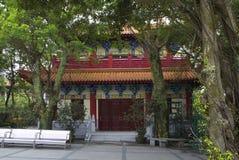 Χογκ Κογκ Στο po Lin μοναστήρι στο νησί Lantau Στοκ Εικόνες