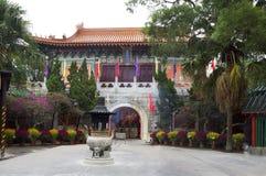 Χογκ Κογκ Το po Lin μοναστήρι στο νησί Lantau Στοκ Φωτογραφία