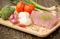 χοιρινό κρέας ακατέργαστ&omicr Στοκ Φωτογραφίες