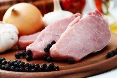 χοιρινό κρέας ακατέργαστ&omicr Στοκ Εικόνες