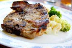 χοιρινό κρέας γευμάτων μπριζολών Στοκ Εικόνα
