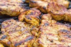 χοιρινό κρέας κοτόπουλου που ψήνεται στοκ φωτογραφία με δικαίωμα ελεύθερης χρήσης