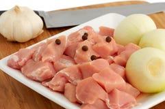 χοιρινό κρέας κρεμμυδιών κ Στοκ Φωτογραφίες