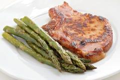 χοιρινό κρέας μπριζολών που καπνίζεται Στοκ Εικόνα