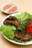 χοιρινό κρέας μπριζολών σχαρών στοκ φωτογραφίες
