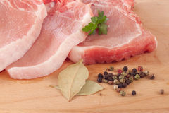 χοιρινό κρέας μπριζολών Στοκ Φωτογραφία