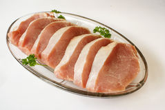 χοιρινό κρέας οσφυϊκών χωρών ακατέργαστο Στοκ φωτογραφία με δικαίωμα ελεύθερης χρήσης