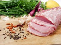 χοιρινό κρέας οσφυϊκών χωρών Στοκ εικόνες με δικαίωμα ελεύθερης χρήσης