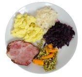 χοιρινό κρέας πιάτων μπριζο&l Στοκ Φωτογραφίες