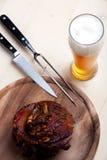 χοιρινό κρέας πιάτων που ψήν&ep Στοκ Εικόνα