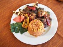 χοιρινό κρέας πιάτων σχαρών Στοκ φωτογραφία με δικαίωμα ελεύθερης χρήσης