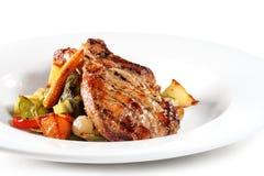 χοιρινό κρέας πιάτων Στοκ Εικόνες