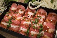 χοιρινό κρέας που τεμαχίζεται Στοκ φωτογραφίες με δικαίωμα ελεύθερης χρήσης