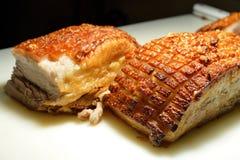 χοιρινό κρέας που ψήνεται Στοκ Φωτογραφίες