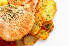 χοιρινό κρέας που ψήνεται Στοκ Εικόνες