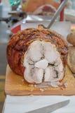 χοιρινό κρέας που ψήνεται Στοκ Εικόνα