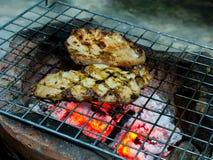χοιρινό κρέας που ψήνεται Στοκ Φωτογραφία