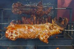 Χοιρινό κρέας σε ένα οβελίδιο Στοκ εικόνα με δικαίωμα ελεύθερης χρήσης