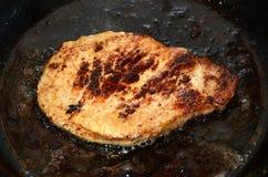 Χοιρινό κρέας στο τηγάνι Στοκ εικόνα με δικαίωμα ελεύθερης χρήσης