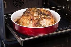 Χοιρινό κρέας στο φούρνο Στοκ Εικόνες