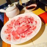 Χοιρινό κρέας φωτογραφικών διαφανειών στοκ φωτογραφία με δικαίωμα ελεύθερης χρήσης