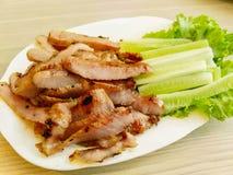 Χοιρινό κρέας ψητού στο ταϊλανδικό ύφος Στοκ εικόνα με δικαίωμα ελεύθερης χρήσης